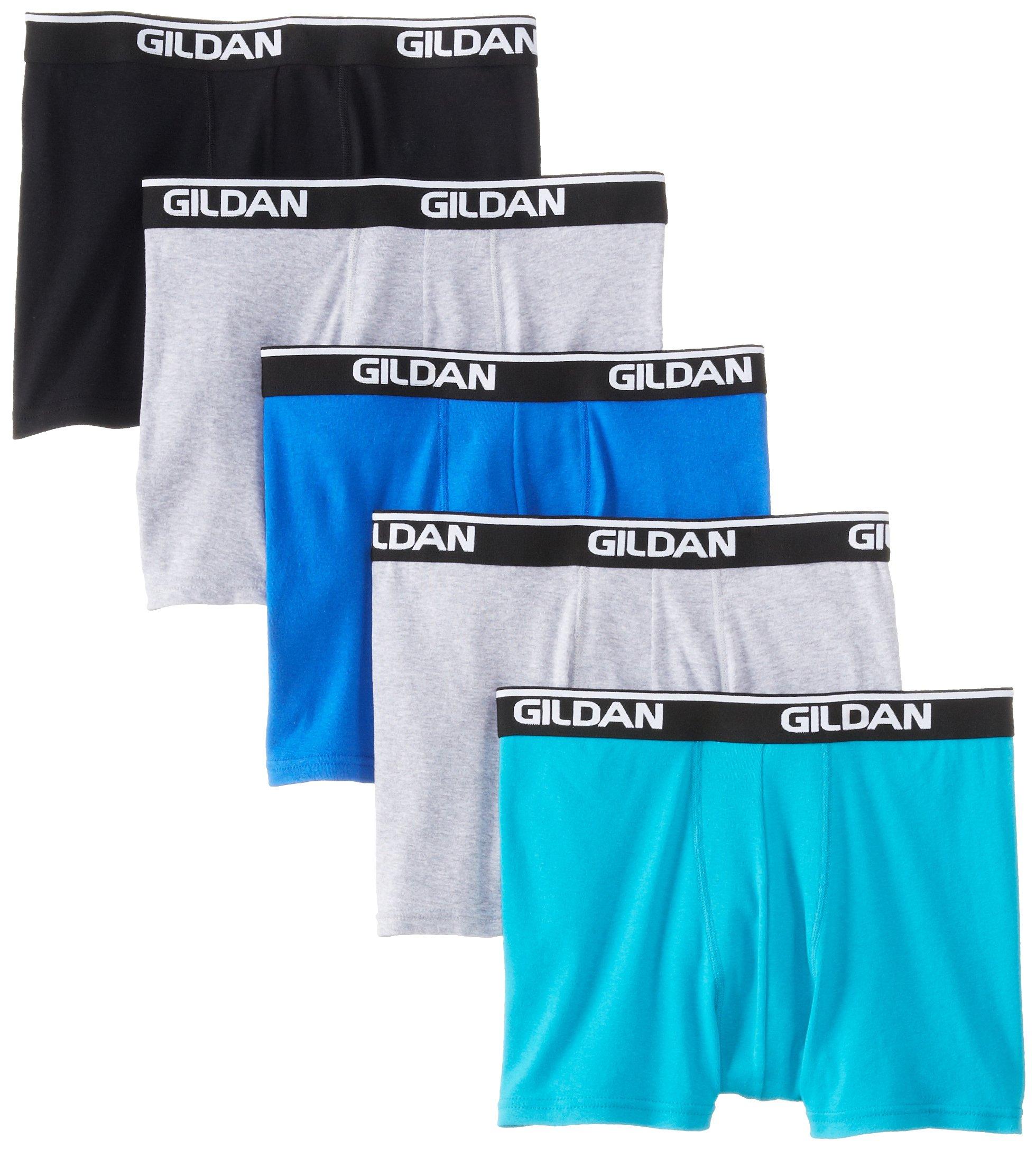 73b2cb67e871 Galleon - Gildan Men's Platinum Short Leg Boxer Brief - Medium - Black  Assorted (Pack Of 5)