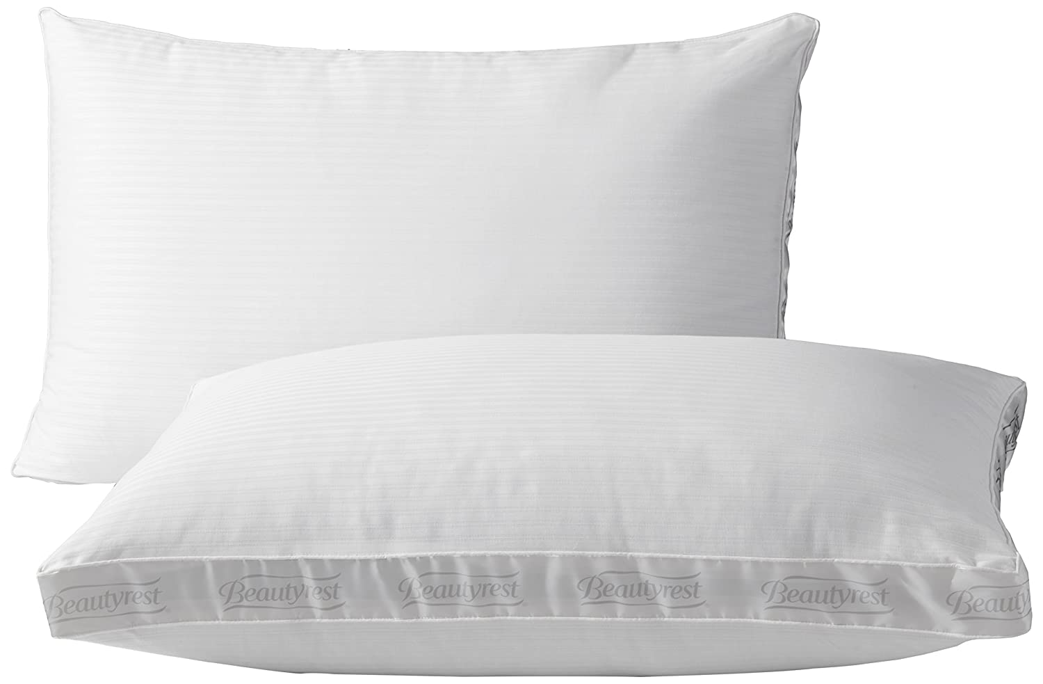 Beautyrest Extra Firm Pillow for Back & Side Sleeper, Two Pack, Standard