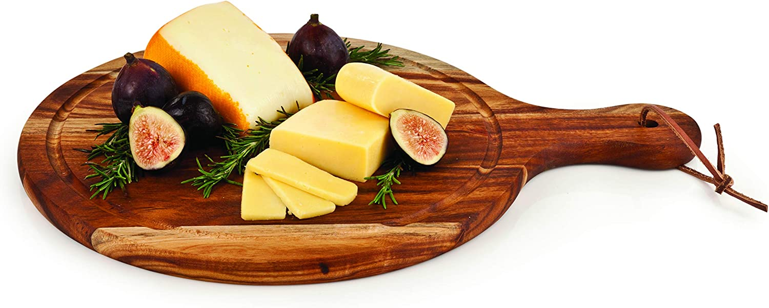 Country Home Acacia Wood Artisan Cheese Paddle by Twine