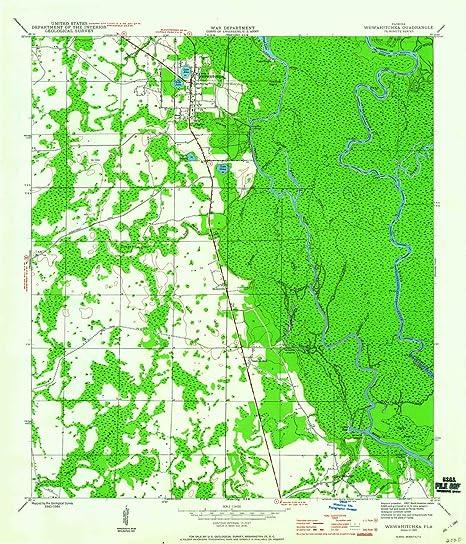 Amazon.com : YellowMaps Wewahitchka FL topo map, 1:24000 ...