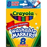 Crayola Washable Markers, Broad Tip, Classic...