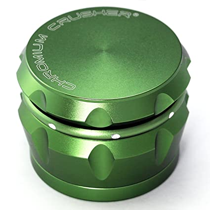 5651ab98c Amazon.com  Chromium Crusher Drum 2.5 Inch 4 Piece Tobacco Spice Herb  Grinder -Groovy Green  Kitchen   Dining