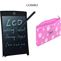 Combo-KARTsHiTech pad 12 inches LCD Writing Tablet/e-Writer/Electronic Writing pad/Drawing Board/E-Slate with Stylus, Save Paper, Learning is Fun with Silicone Multipurpose Pouch