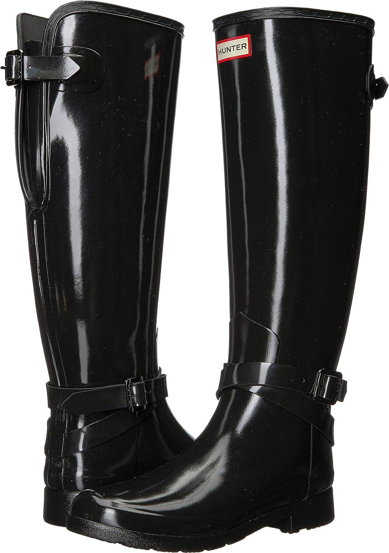 Hunter Womens Refined Back Adjustable B0779G6YWM Tall w/Ankle Strap Gloss B0779G6YWM Adjustable 7 B(M) US|Black 513f1d