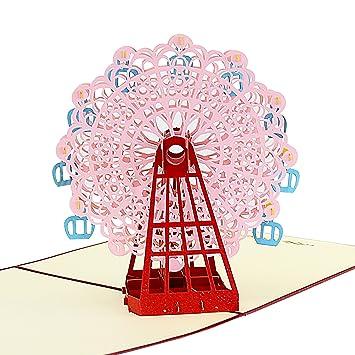 Jerry & Maggie - Pop Up Tarjeta de felicitación, diseño de noria 3d ...