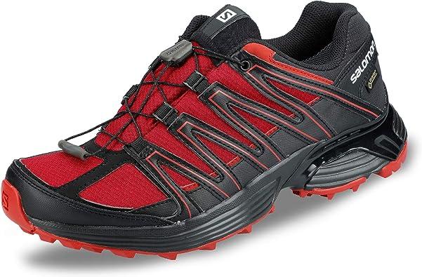 Salomon L40743400 XT Asama - Zapatillas de malla con cordones para hombre (Gore-Tex), color Rojo, talla 48 EU: Salomon: Amazon.es: Zapatos y complementos