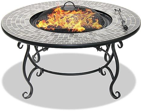 Centurion Supports Fireology Ginessa suntuoso jardín y patio calentador hoguera, mesa de café, barbacoa