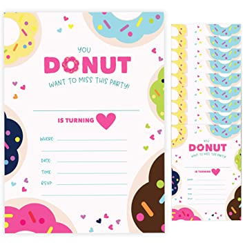 Thank You Cards and Envelopes option With Envelopes Option Boys Girls Kids Childrens Only Invites Pack of 20 Invitations Jungle Animals Birthday Party Invites