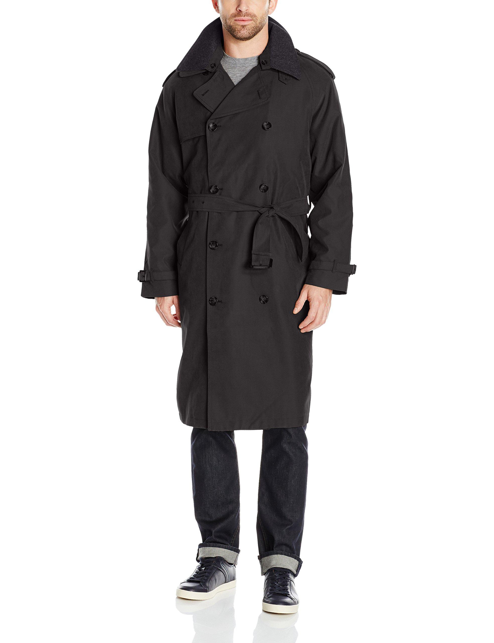 London Fog Men's Iconic Trench Coat, Black, 40 Long by London Fog