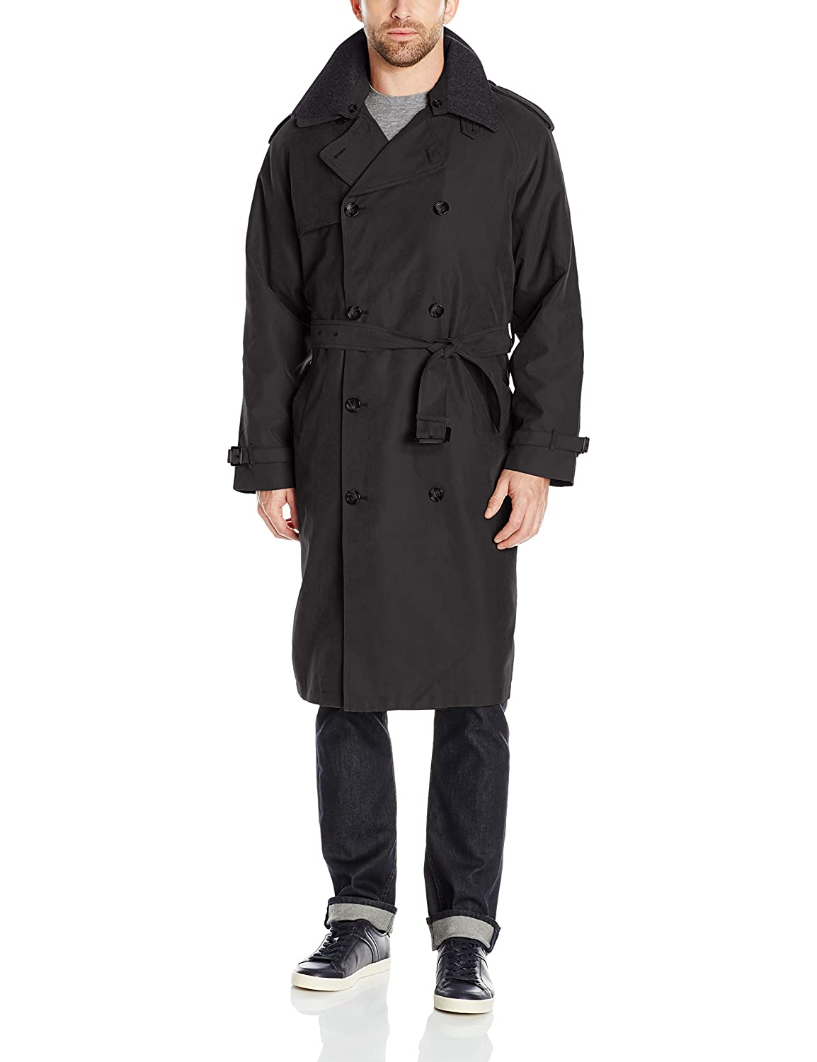 Amazon.com : Men's Full-length German Military Trench Coat - Gray