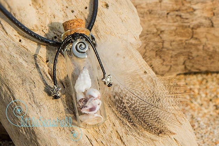 Collar conchas de mar y pluma refinada Idea original de regalo para una novia preciosa, de cumpleaños o para todas las ocasiones