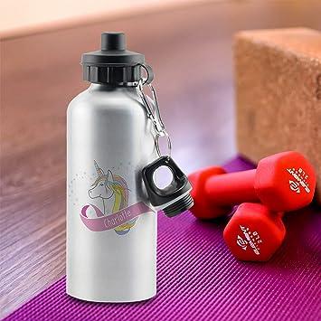 Personalizado Unicornio corazón botella