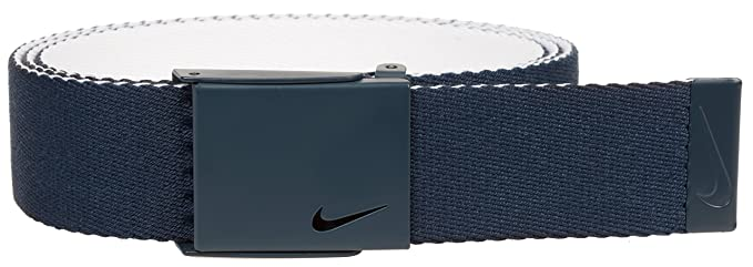 0aecef831a Nike Men's New Tech Essentials Reversible Web Belt, college navy/white One  Size