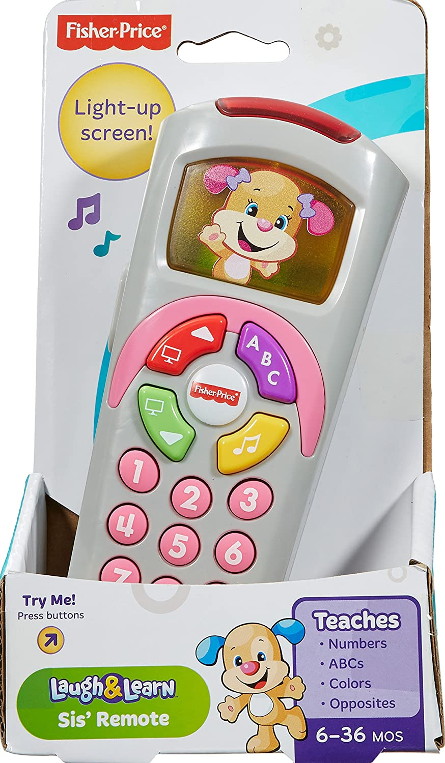 White BFK69 Fisher-Price Laugh /& Learn Smart Phone
