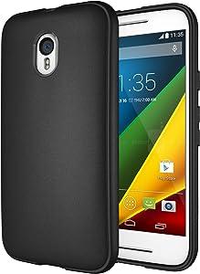 Moto G 3rd Gen Case, Diztronic Full Matte Flexible TPU Case for Motorola Moto G (3rd Generation) 2015 - Black (MG3-FM-BLK)