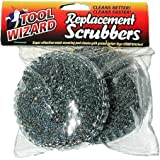 Tool Wizard BBQ Brush Replacement Scrubbers -2 Pack