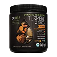 SoTru Turmeric & Ginger Drink Mix - 4.76 oz. - Whole Food, Fermented Herbal Supplement...