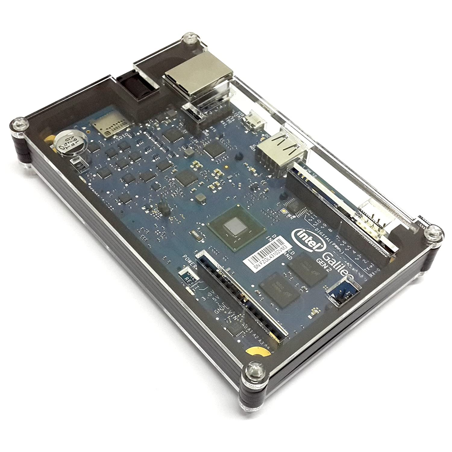 Eleduino Transparent Cover Box Enclosure For Intel Galileo Gen 2 Electronics Circuit Components Printed Boards Hi Resolution Images