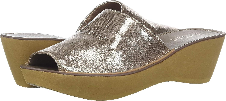 Kenneth Cole REACTION Womens Fine Mule Platform Slide Sandal Wedge Sandal