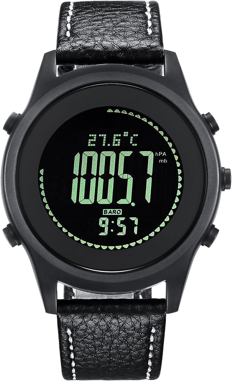 Spovanデジタル手首腕時計高度計バロメーターコンパス歩数計防水アウトドアスポーツウォッチ