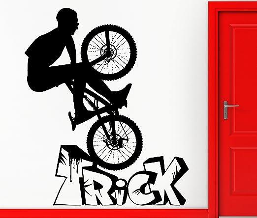 Pared pegatinas Vinilo para BMX Truco para bicicleta de montaña ...