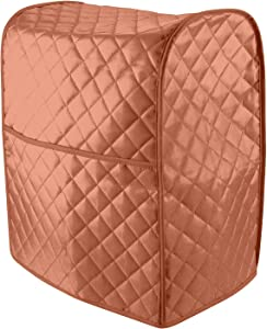 Stand Mixer Cover, Cotton Quilted Dust-proof Cover Kitchen Mixer Part and Accessories Organizer Protector Cover Bag,Compatible with All 6-8 Quart Kitchen Aid Mixers. (Light Red)