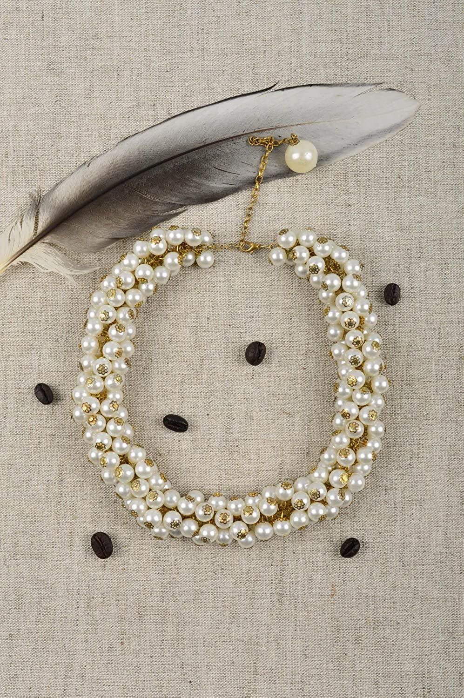 Evening Jewelry Beaded Stylish Necklace Elegant Necklace Handmade Accessories