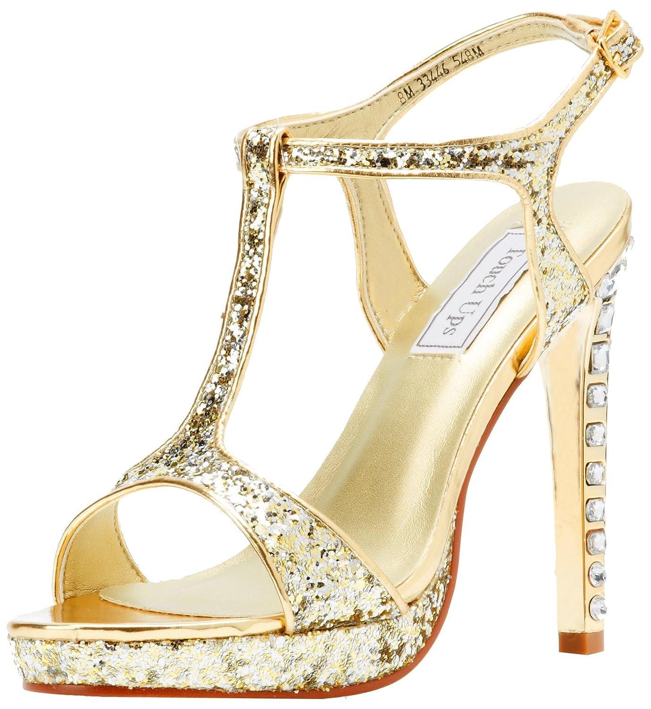 Touch Ups Women's Darcy Platform Sandal B009P4HA96 11 B(M) US|Gold Glitter