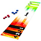 Franklin Sports Shuffleboard Table Game - Indoor or Outdoor Shuffleboard Mat for Kids and Adults - Includes 8 Pucks - 6 Foot Mat That Pucks Easily Slide On - Rolls Up for Storage