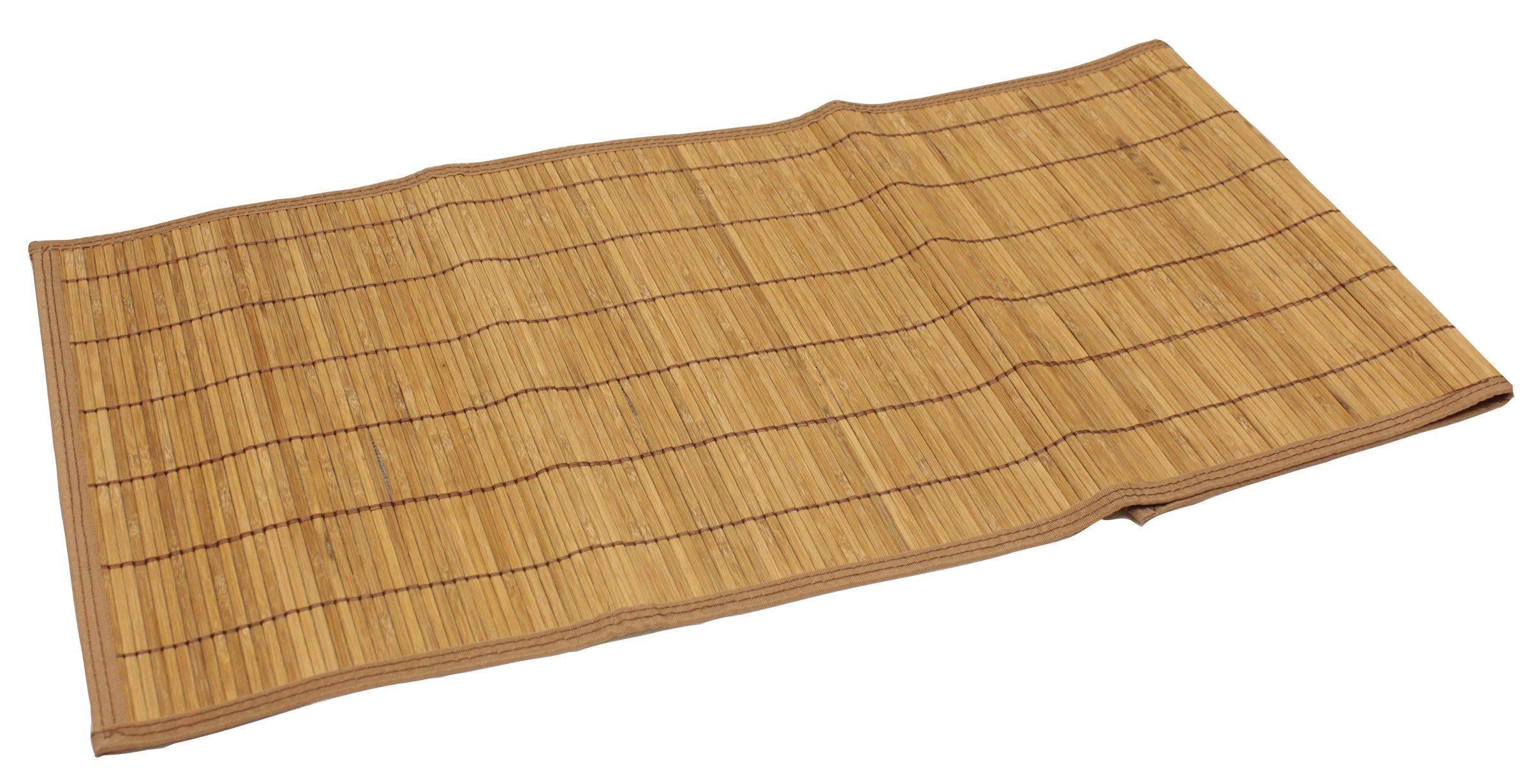 Seta Direct, Brown Bamboo Slat Table Runner With Brown Color Border (13''x36'')