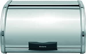 Brabantia Storage Touch Bread Box, Medium - Matt Steel, 397080