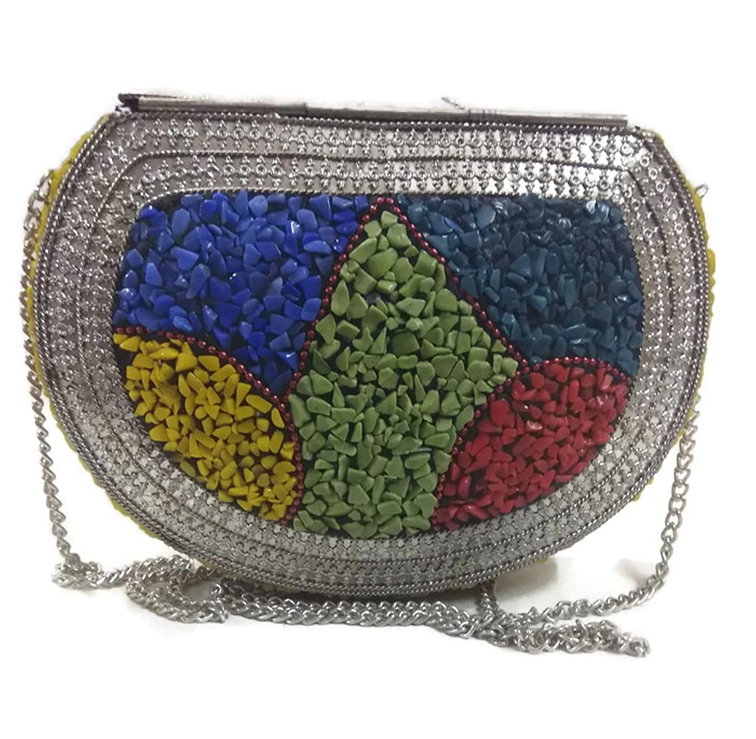 complimentary shipping latest fashion reasonable price Women cut stone natural unique stylo party Clutch Ethnic ...