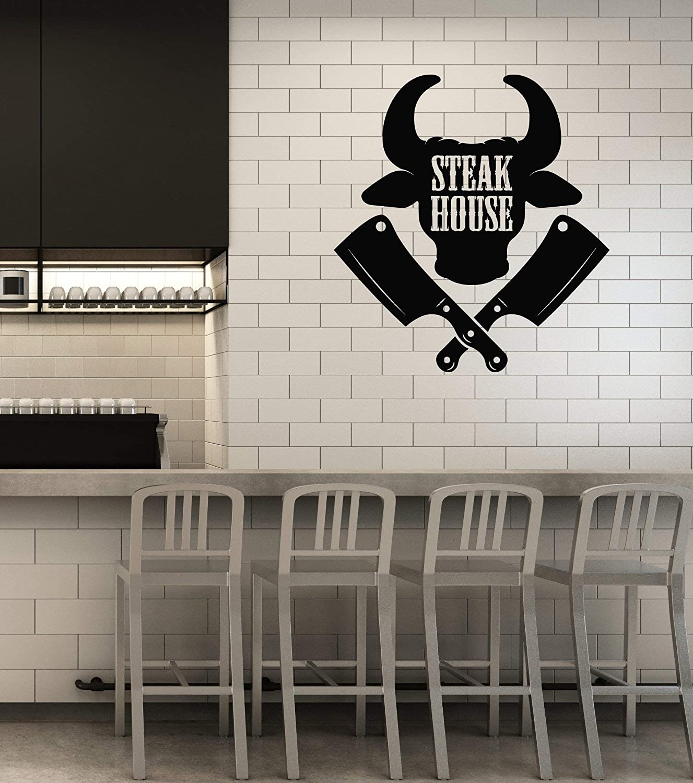 Details about  /Wall Vinyl Decal Steak Fresh Delicious Best Meat Restaurant Interior Decor z4851