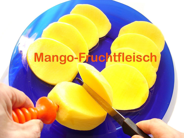 Mango sch/älen war nie einfacher? kein /Ärger und keine Probleme. KeinGematsche MangoMax einfach in den Kern der Mango eindrehen und schon haben sie ihre Mango sicher im Griff