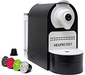 Mixpresso Espresso Machine for Nespresso Compatible Capsule, Programmable Buttons for Espresso and Lungo, Premium Italian 19 Bar High Pressure Pump 27oz 1400W (Black)