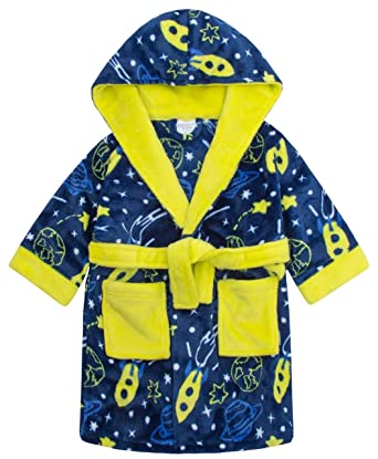 57237056a787 Boys Space Rocket Dressing Gown Bath Robe (5-6 Years)  Amazon.co.uk ...