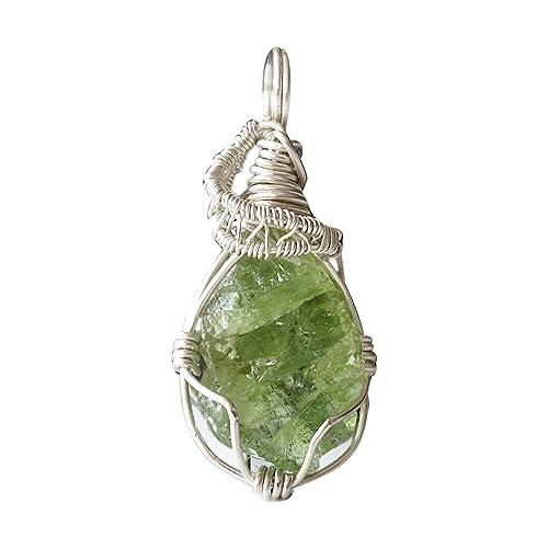 peridot chain rainbow moon necklace with peridot chain white labradorit peridot healing stone necklace yoga chakra jewelry single piece