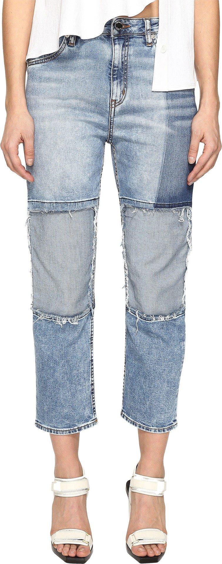 Love Moschino Women's Boyfriend Trousers Blue Pants