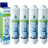 4x AquaHouse UIFH Compatible pour Haier 0060823485A Kemflo Filtre à eau Aicro pour réfrigérateurs Haier, CDA, Firstline, Frigistar