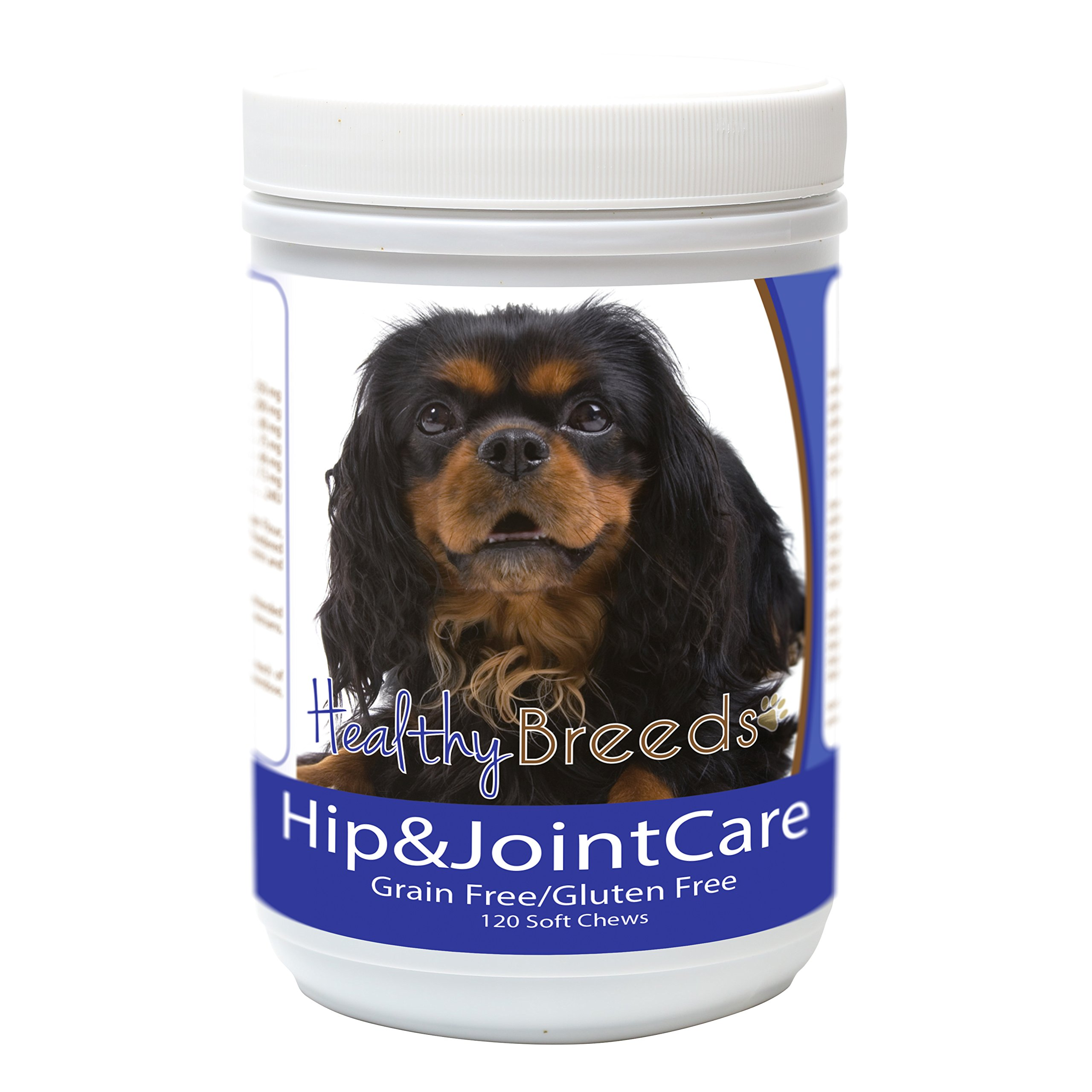 Healthy Breeds Glucosamine Chondroitin for Dogs for English Toy Spaniel - Over 200 Breeds - Bacon Flavor - Gluten & Grain Free - Easier Than Liquid or Pills - 120 Chews