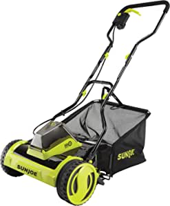 Sun Joe 24V-CRLM15-CT 24-Volt iON+ Cordless Push Reel Mower w/Rear Collection Bag, Tool Only (Battery + Charger Not Included)