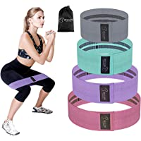 Resistance Bands Set of 4 Levels,BESTOPE Exercise Bands for Legs and Butt,Fabric Sports Bands Hip Workout Bands Premium Activate Glutes and Thighs,Elastic Exercise Band Fitness Bands for Men and Women