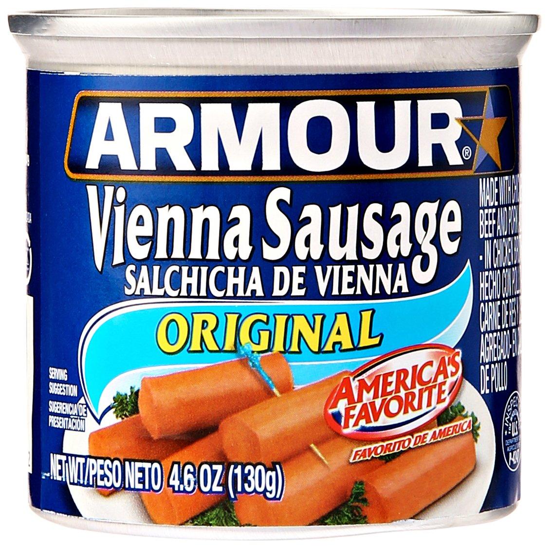 Armour Star Vienna Sausage, Original Flavor, Canned Sausage, 4.6 OZ (Pack of 6)