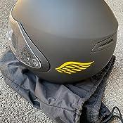 Xaevon Angel Wings Lot de 2 Autocollants pour Casque de Moto Rose 80 mm x 40 mm