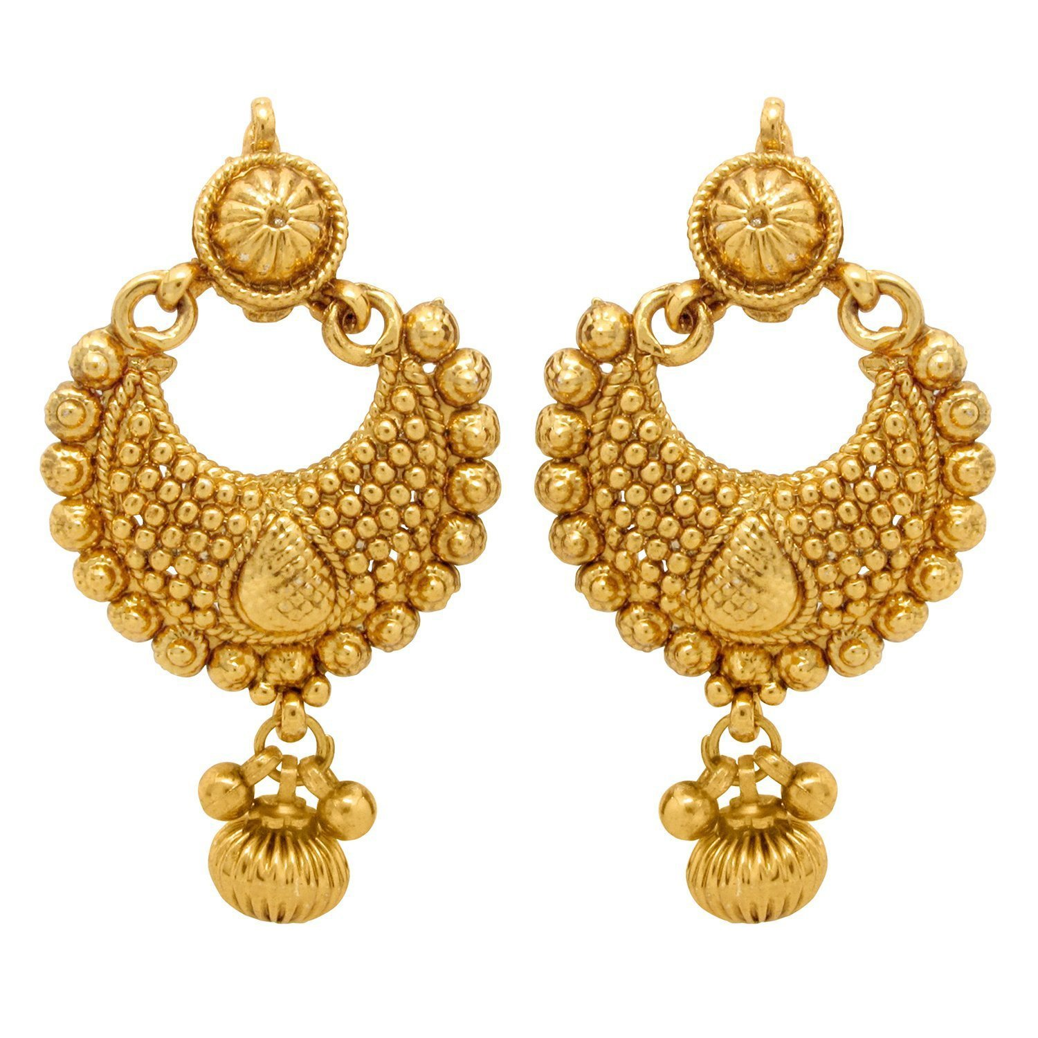 Buy Donna Gold Plated Combo Of 2 Dangle & Drop Earrings For Women ...