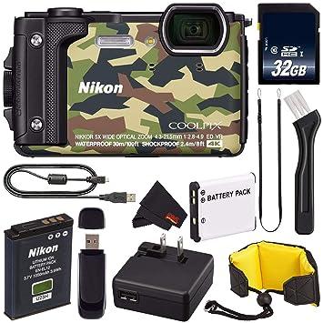 Amazon.com: Nikon Coolpix W300 Cámara Digital (Negro) 26523 ...