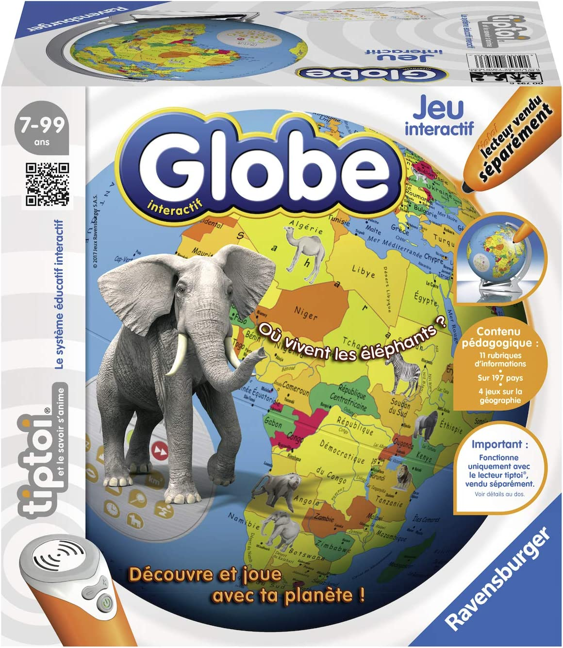 Ravensburger- tiptoi® - Globe interactif - A partir de 7 ans- 00793