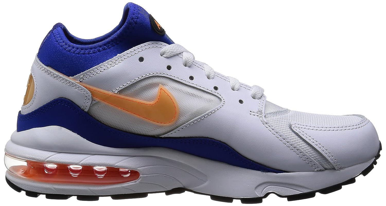 qppza Nike AIR MAX 93 White Blue Leather Men Sneakers Shoes: Amazon.co