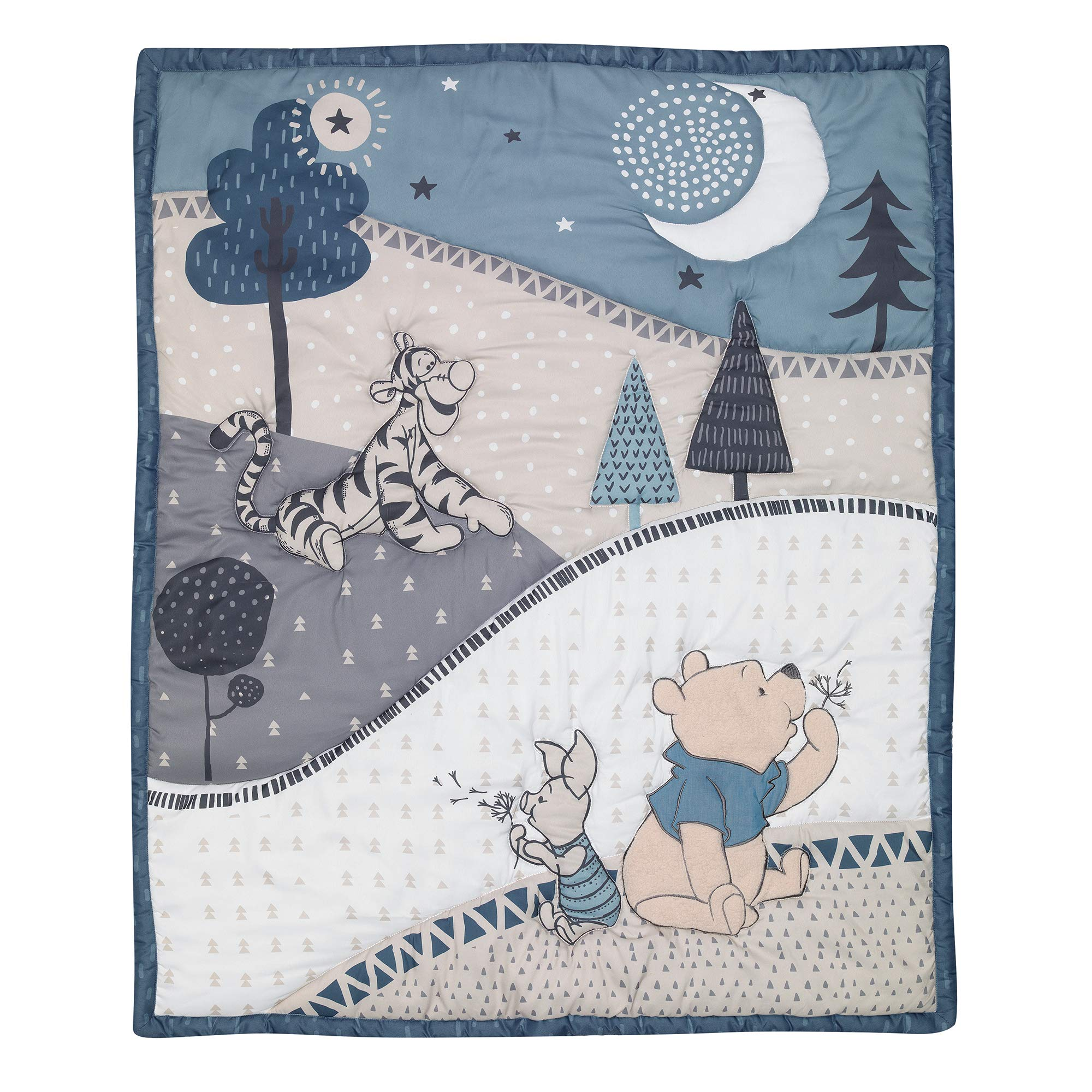 Lambs & Ivy Forever Pooh 3Piece Baby Crib Bedding Set, Blue by Lambs & Ivy (Image #3)
