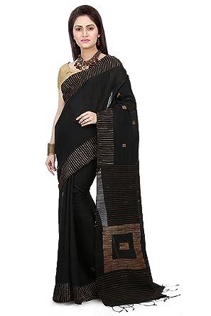 0bffc2545b6b53 WoodenTant Women s Silk Cotton Saree with Blouse Piece (WBG03